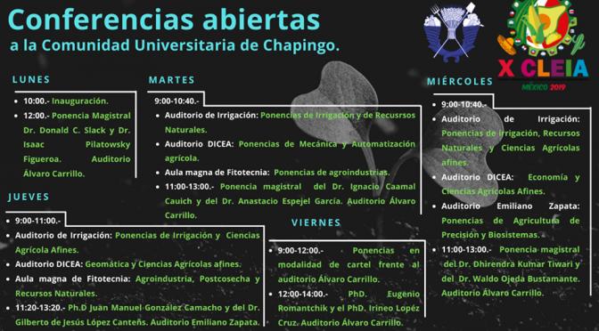 Conferencias: Congreso Latinoamericano y del Caribe de estudiantes de Ingeniería Agrícola