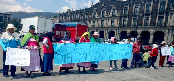 CDMX: Exigen mazahuas el suministro de agua en sus comunidades (Voto en Blanco)