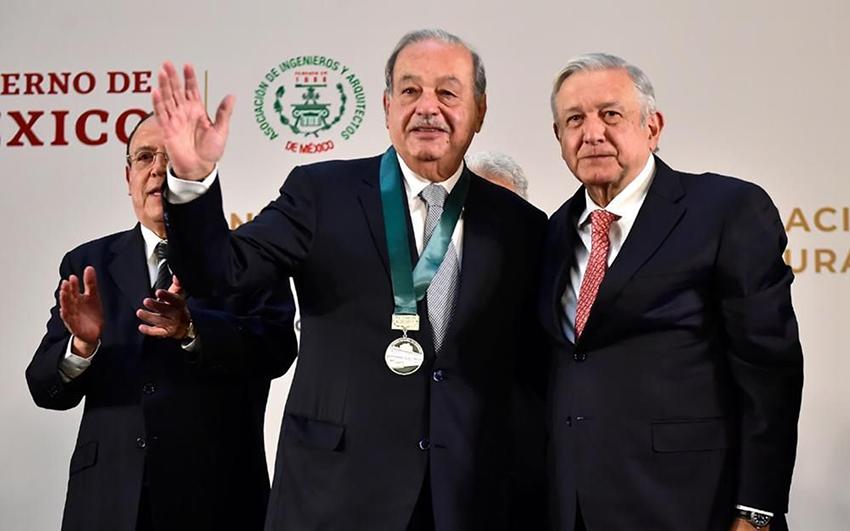 México: Pide Slim inversión y es el más beneficiado (Pie de Pagina)