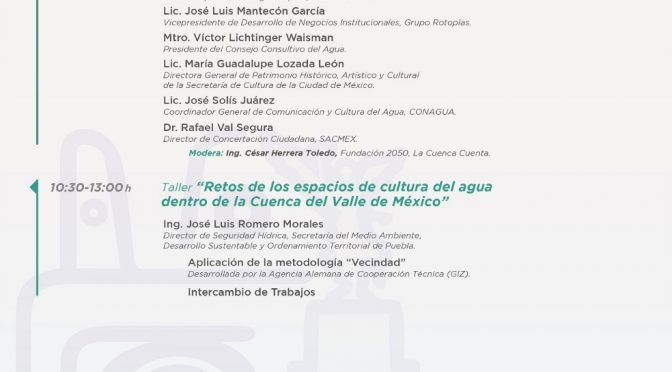 Semana del Agua: Agua y Cultura (SACMEX)