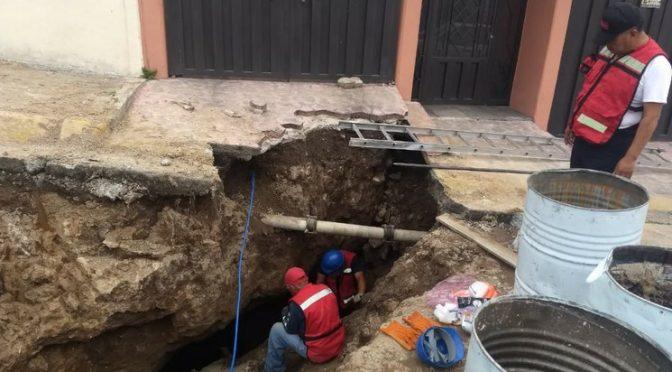Rellenan en Tlalnepantla mina que quedó descubierta por fuga de agua (La Jornada)