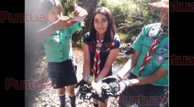 Puebla: Sacan más de seis toneladas de basura los scouts en ríos de Atzala (Puntual)