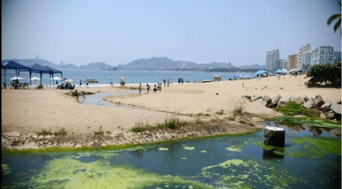 Guerrero: Principales playas de Acapulco infestadas de aguas negras (La Verdad)