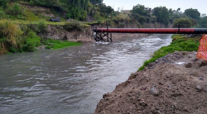 Puebla: rehabilitan el Colector Ramal 4, en las márgenes del Río Alseseca (Milenio)
