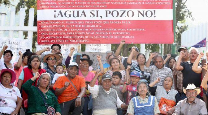 CDMX: Pobladores dispuestos a dar la vida contra construcción de pozo
