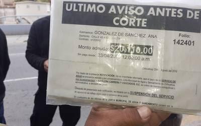 Chihuahua: Protestan por altos cobros en servicio de agua (El Heraldo de Chihuahua)