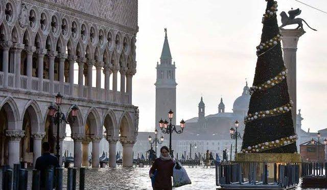 Italia: Antes de Navidad, Venecia tiene nueva inundación (Milenio)