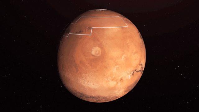"""La NASA encuentra """"hielo de agua"""" debajo de la superficie de Marte (Prensa Libre)"""
