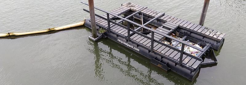 Holanda: Trampas que recolectan la contaminación plástica de los ríos, para hacer parques y productos (Ecoportal)