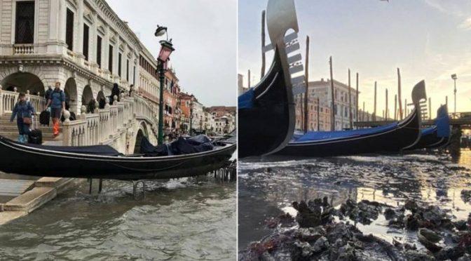 Italia: Venecia pasó de inundada a 'sin agua' (El Mañana)