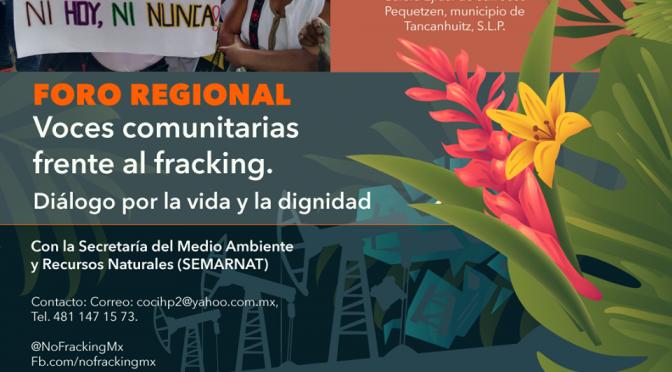 Foro Regional: Voces comunitarias frente al fracking