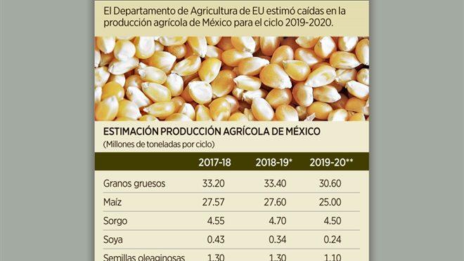 Advierte EU caída en agro mexicano (Reforma)