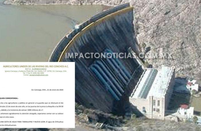 Chihuahua: Convoca Asociación Agrícola a guardia al exterior de la Presa La Boquilla para evitar extracción de mil millones de metros cúbicos de agua (Impacto & TV)