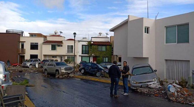Querétaro: fuga de agua colapsó tanque de CEA en Monte Blanco (Quadratín Querétaro)