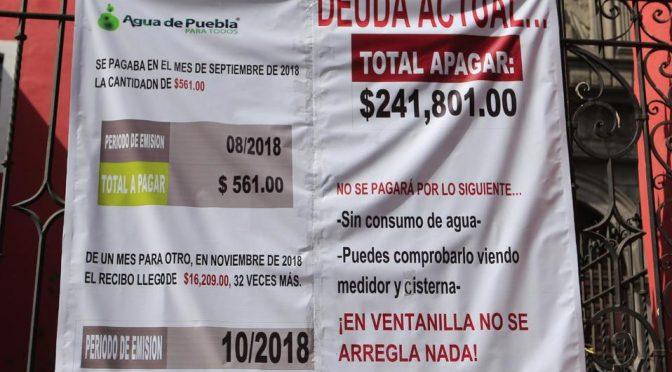 Puebla: Corrigen cobro de agua al Convento de San Agustín, tras denuncia (Milenio)