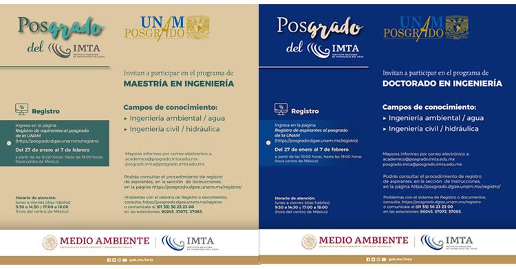 Convocatoria: Programa de Maestría y Doctorado en Ingeniería