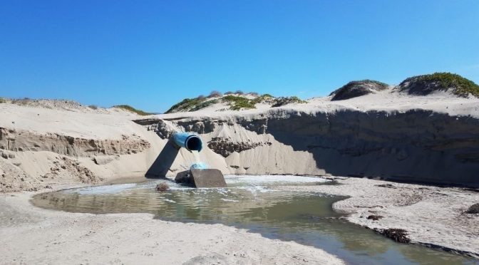 Baja California Norte: denuncian derrame de aguas residuales en Playa Pacífica (El Imparcial)