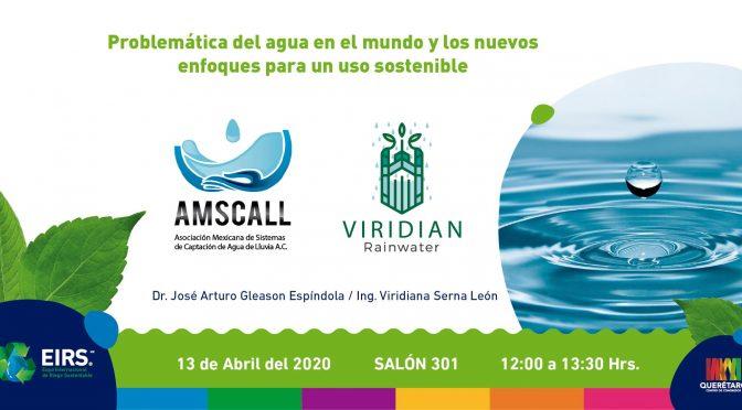 Ciclo de conferencias: Problemática del Agua en el Mundo y Nuevos Enfoques para un uso Sostenible