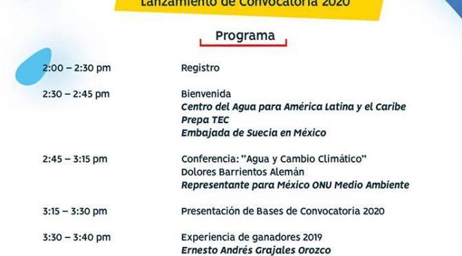 Premio Nacional Juvenil del Agua: Lanzamiento de Convocatoria 2020