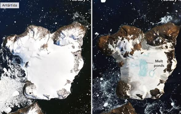 La Antártida se derrite bajo sus días más calurosos (El Universal)
