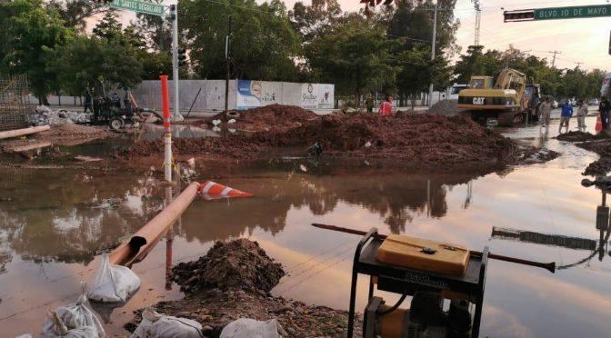 Sinaloa: mega fuga deja sin agua varios sectores de Los Mochis (Linea Directa)