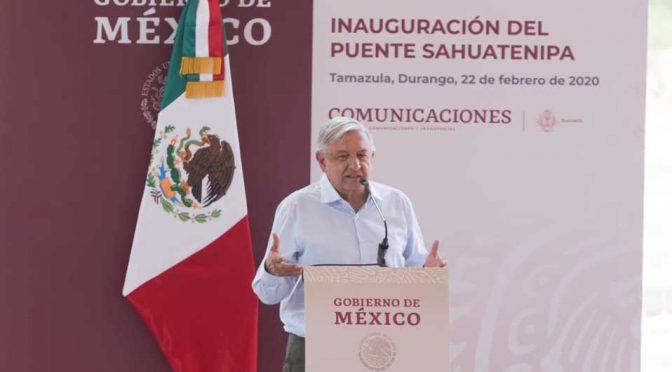 Durango: Calidad de Agua y hospitales, piden a AMLO durante su visita (Milenio)