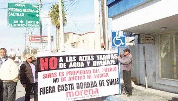 Coahuila: Que paguen agua los ricos, exigen a Simas (Zócalo)