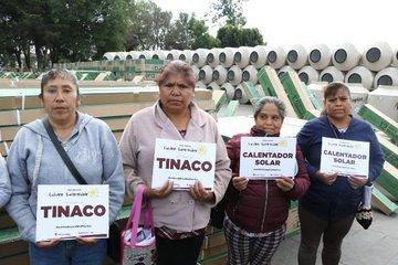 Puebla: Entregan tinacos de agua en Huejotzingo (24 horas)