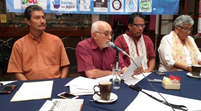 Propone frente en defensa del agua la creación de comites ciudadanos para revertir privatización del servicio en Puebla (La Jornada)
