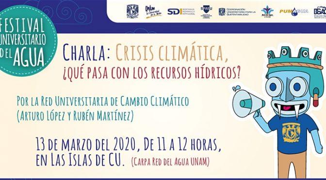 Charla: Crisis Climática ¿Qué pasa con los recursos hídricos?