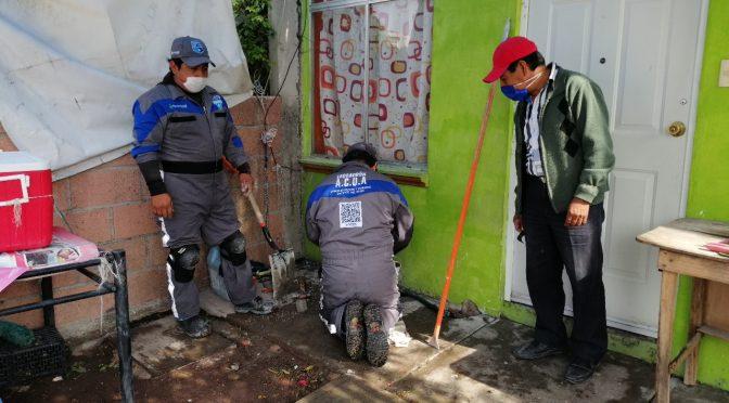 Puebla: Atienden fugas de agua en La Guadalupana (Puebla Noticias)