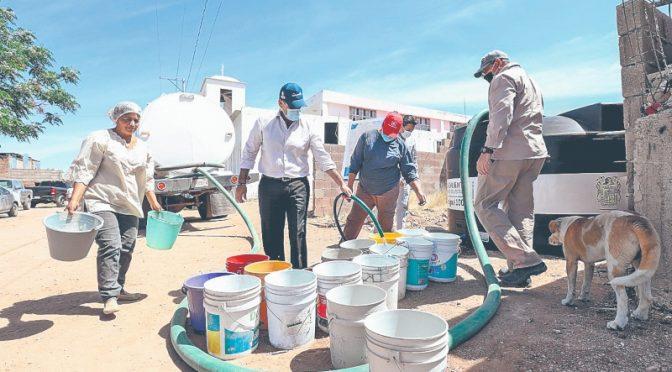 Aguascalientes: Instalan cisternas de agua para garantizar higiene (24 horas)