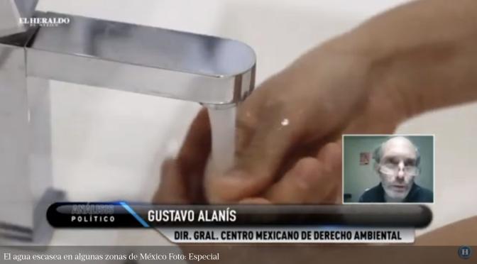 México: Expertos opinan ante escasez de agua y COVID-19 (El Heraldo de México)