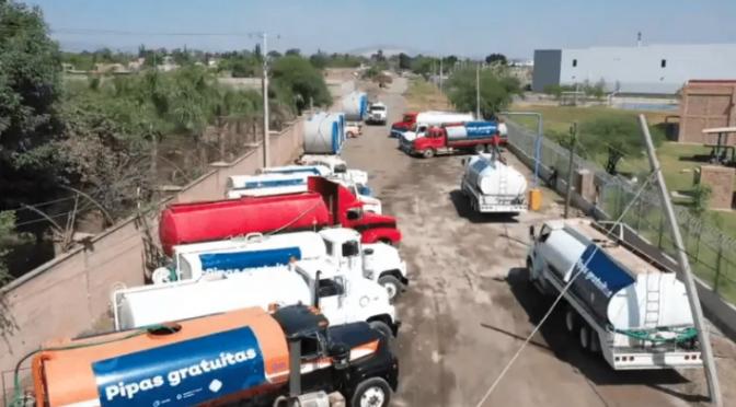 Confinamiento aumenta consumo de agua en Jalisco; se apoyan con pipas (Informador)