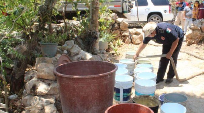 Yucatán: Abastecen de agua a familias (Diario de Yucatán)