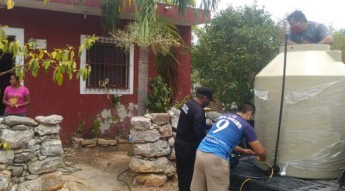 Yucatán: Llevan agua a casas (Diario de Yucatán)
