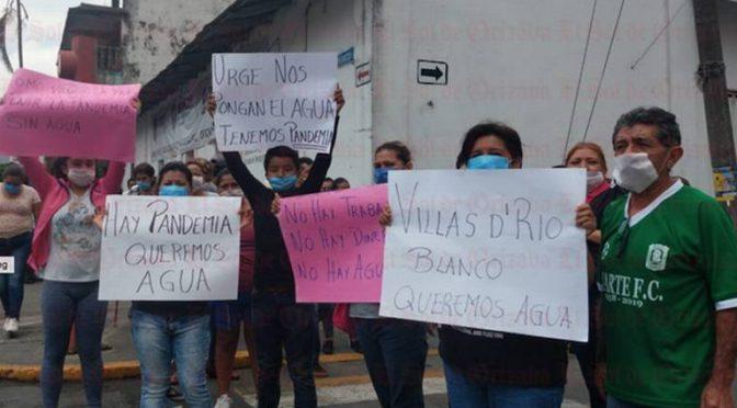 Veracruz: Sin agua 450 familias de Villas de Río Blanco a causa de taponamiento (El Sol de Orizaba)