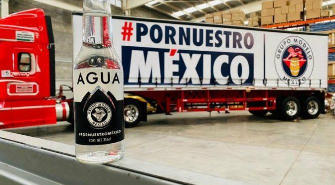 Dona Grupo Modelo 100 mil botellas de agua a gobierno de Edomex (La Jornada)