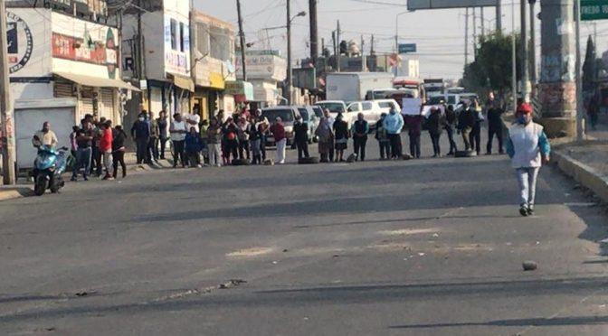 Puebla: Se manifiestan en junta auxiliar San Aparicio; exigen servicio de agua (Milenio)