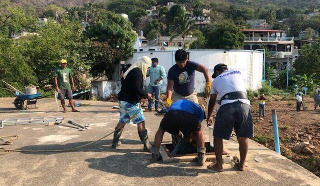 Guerrero: Limpia Capama tanque de almacenamiento de agua en Infonavit Alta Progreso (Notimundo)