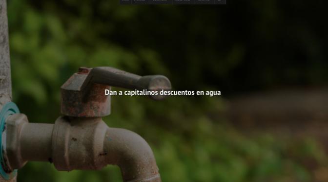 Zacatecas: Dan a capitalinos descuentos en agua (NTR Zacatecas)