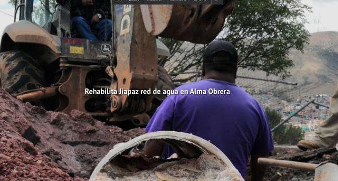 Zacatecas: Rehabilita Jiapaz red de agua en Alma Obrera (NTR)