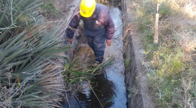 Argentina: San Luis Agua limpió el canal que provee al acueducto San Miguel Balcarce (Agencia de Noticias Sal Luis)