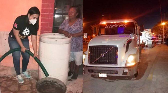 Coahuila: Alcaldesa de Viesca lleva agua ante las limitantes de la red hidráulica de Simas (Noticias de El Sol de La Laguna)