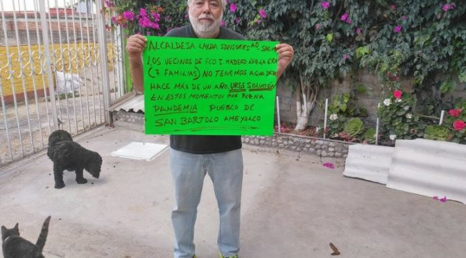 CDMX: Carecen de agua en San Bartolo Ameyalco desde hace 70 días (La Jornada)