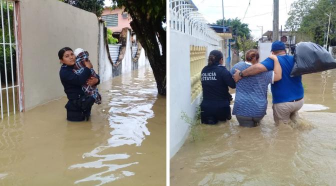 Veracruz: Autoridades activan Plan Tajín por desborde de río en el municipio de Agua Dulce (Sin Embargo)