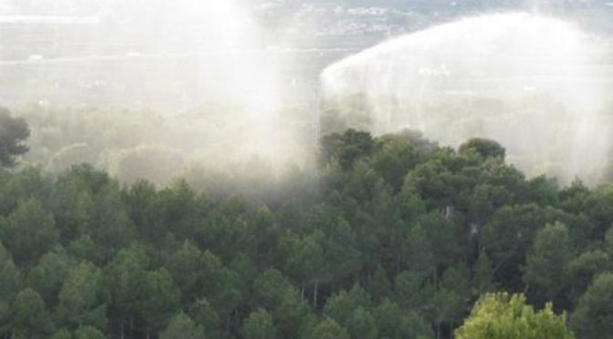 España: Novedoso sistema contra incendios forestales usando agua residual regenerada (El Ágora)