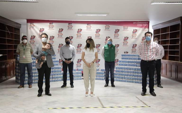 Morelos: Recibe DIF Cuernavaca donación de latas de agua (El Sol de Cuernavaca)