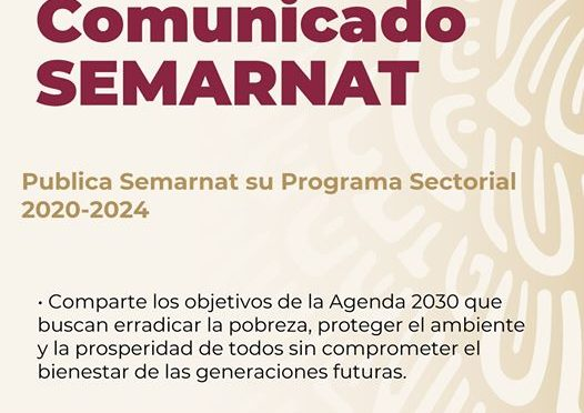 Decreto por el que se aprueba el Programa Sectorial de Medio Ambiente y Recursos Naturales 2020-2024