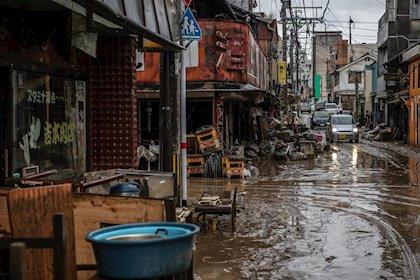 Japón: Suroeste de Japón bajo agua (Info BAE)